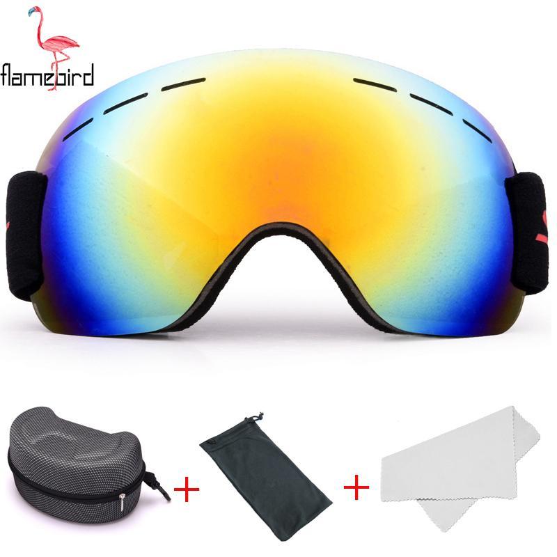 190285324009 Ski Goggles GOG-2181 Lens Anti-fog Big HD Lens Skiing Glasses UV400 ...