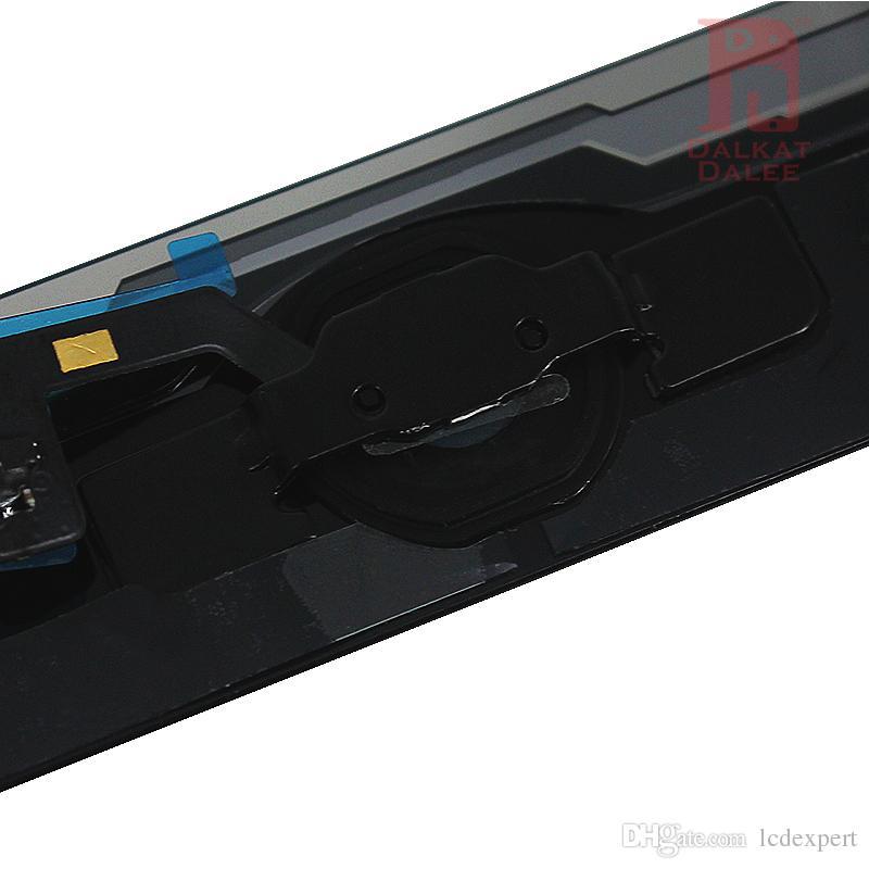 Para el aire iPad 1 para el iPad 5 digitalizador de pantallas asamblea de pantalla táctil de cristal con el botón del hogar del pegamento adhesivo Sticker Piezas de repuesto A1474 A1475