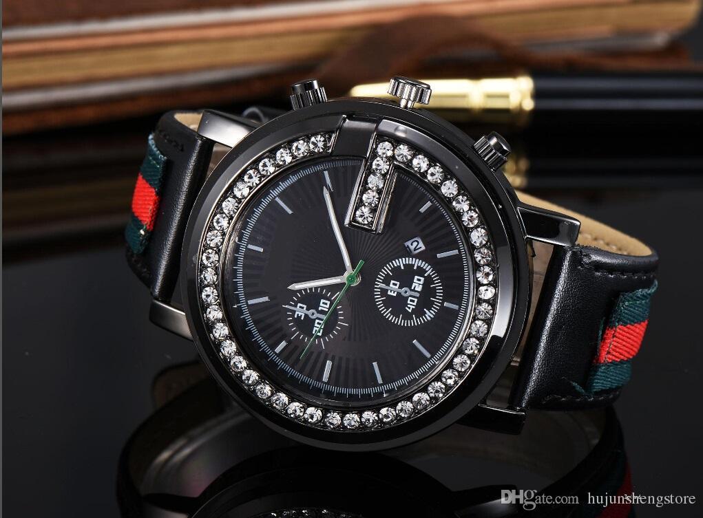 العلامة التجارية السيدات ووتش الرجال حزام جلد عشاق النساء ساعات عادية ساعة الكوارتز خمر ساعة اليد reloj موهير relogio
