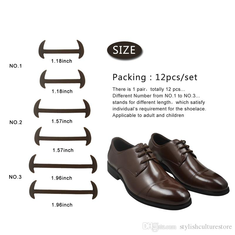 No Tie Lazy Shoelaces Elastic strecth Waterproof Silicone Shoe laces For Leather Dress Shoes