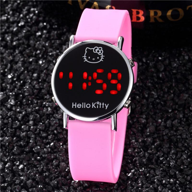 Children's Watches Touch Led Sport Movement Electronic Childrens Boys Girls Kids Digital Quartz Watch Wrist Watches Clock Bracelet Holiday Gift Clients First