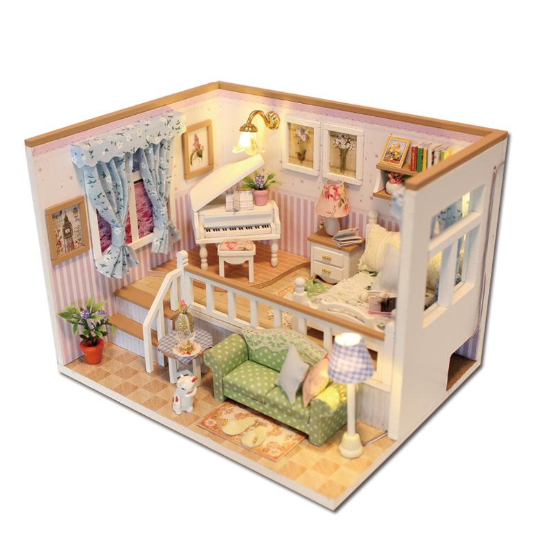 Hoomeda M026 Diy Wooden Dollhouse Because Of You Miniature Doll