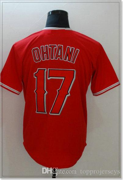 Los Angeles #17 Shohei Ohtani 27 Mike Trout Cheap Sports Shirts Mens Baseball Pro team Jerseys Sports Uniforms Stitched Embroidery For Sale