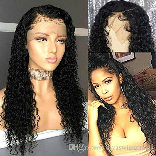 360 Lace Frontal Wig Water Wave 180 Density Pre Plucked Hairline