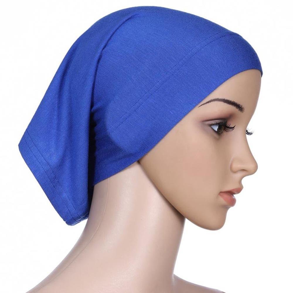 New Fashion Women Islamic Hijab Cap Scarf Tube Bonnet Hair Wrap Colorful Head Band Novelty & Special Use Islamic Clothing