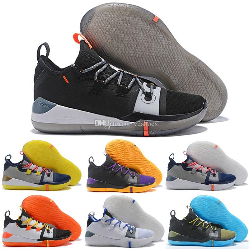 pretty nice e92bf ca3c6 Großhandel 2019 Neue Kobe AD Mamba Tag A. D. EP Sail Multi Color Herren  Basketball Schuhe Chaussures Designer Trainer Zapatos Kobe Bryant Sport  Turnschuhe ...