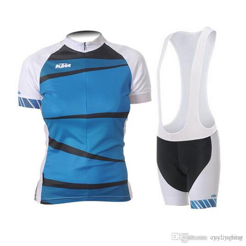 9ce917df0 High Quality KTM 2017 Women Short Sleeve Cycling Jersey Bib Shorts Shirt  Set MTB Bicycle Clothes Ropa Ciclismo 9D Gel Pad E1106 Cycling Shorts Men  Mountain ...