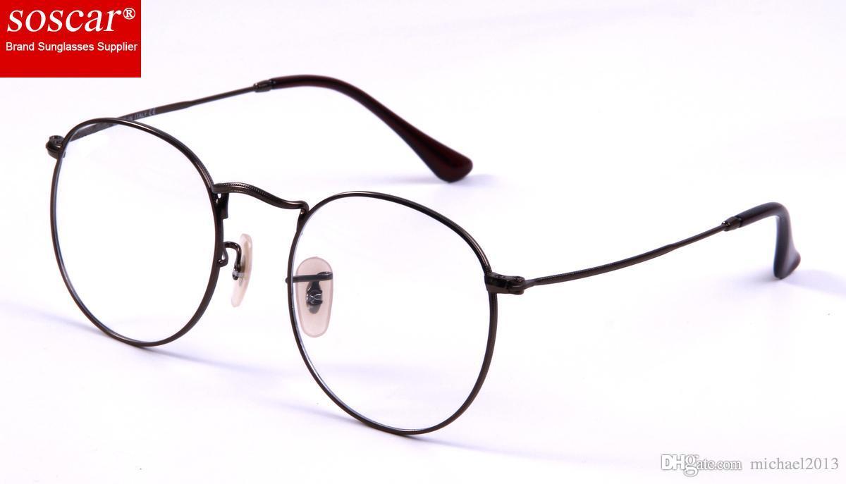 cf00d050867 Fashion Round Sunglasses Frame Myopia Optics Eyewear Frame Soscar ...