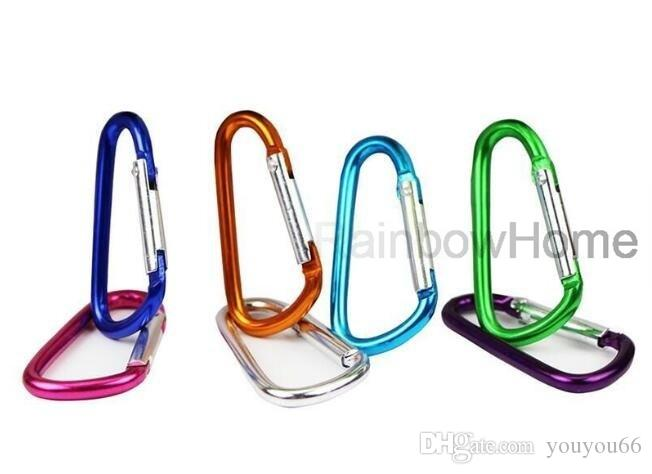 Outdoor Carabiners Camp Snap Clip Hook Carabiner Ring Outdoor Sports Keychains D Shape Hook Aluminum Accessory