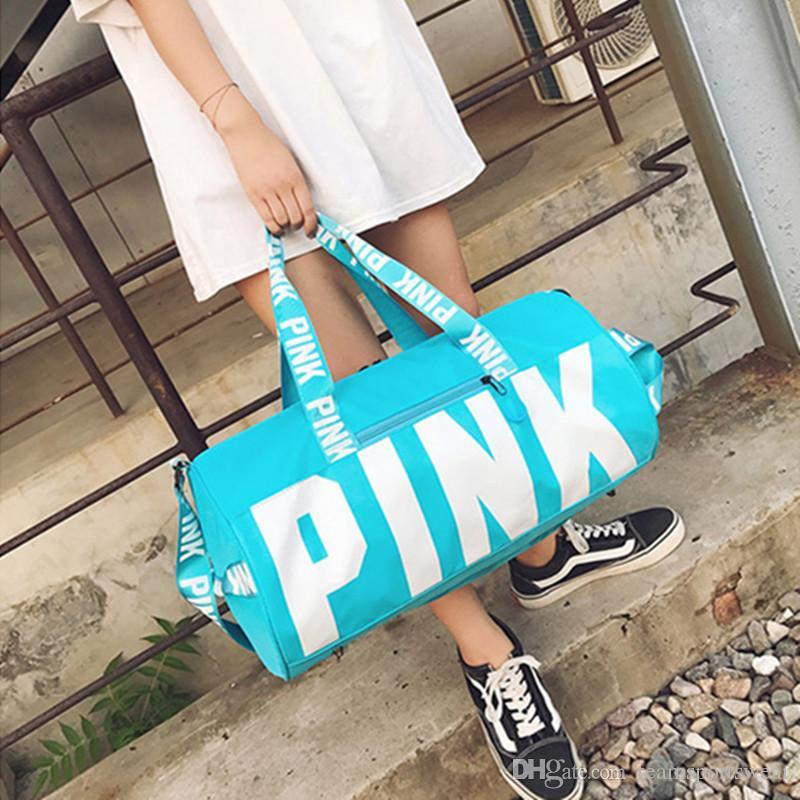 2019 Love Pink Storage Bag Big Large Pink Men Women Travel Bag Handbag  Waterproof Duffel Bags Luggage Bags From Teamsportswear 4293d78549c24