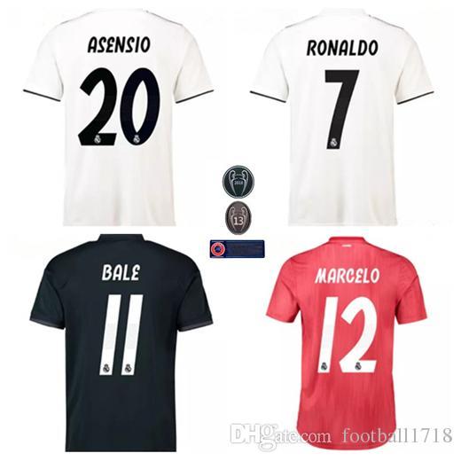 Top Quality 2018 2019 Real Madrid Soccer Jersey CR7 RONALDO MODRIC ... e0c360fd1