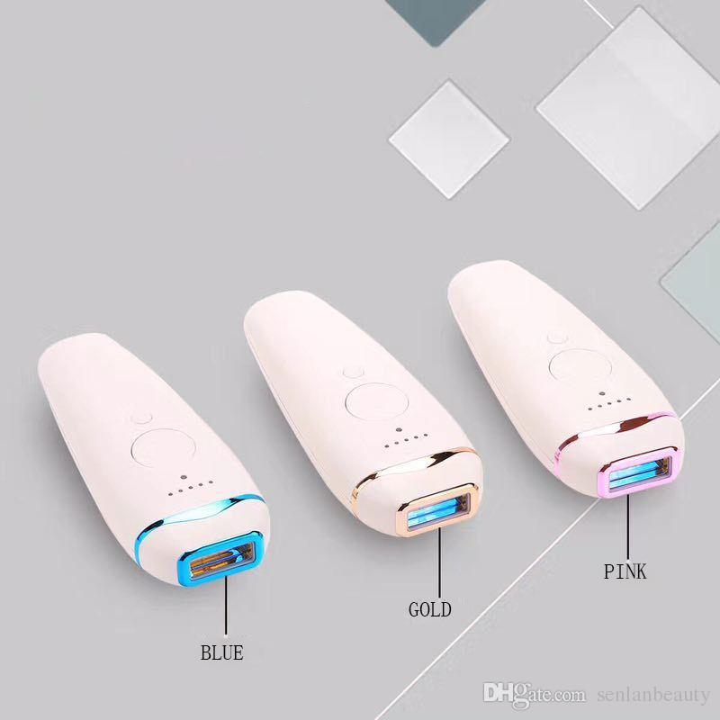 Elektrikli Mini Taşınabilir Lazer Darbe Işık Epilatör Kalıcı IPL Epilasyon Makinesi Tüy Dökücü Yüz Vücut Kadınlar Için Saç Tıraş Giyotin