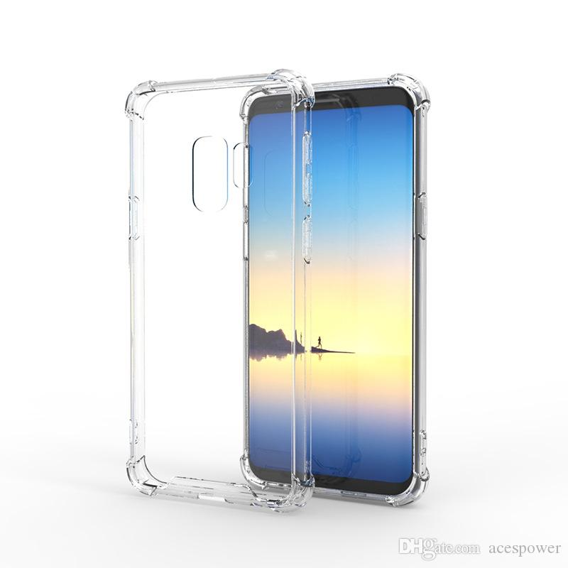 Для iPhone 11 Pro XR XS MAX 8 X Samsung S20 S10 S8 S8 PLUS Примечание 10 Крышка Воздушная подушка Жесткая задняя Акриловая