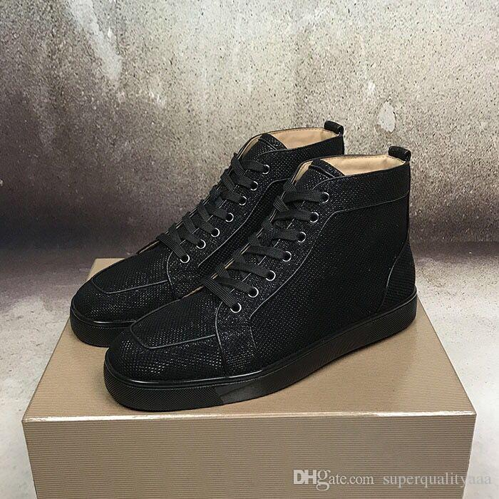 d84702f52d93 Factory Sale High-top Red Bottom Sneakers Genuine Leather Casual ...