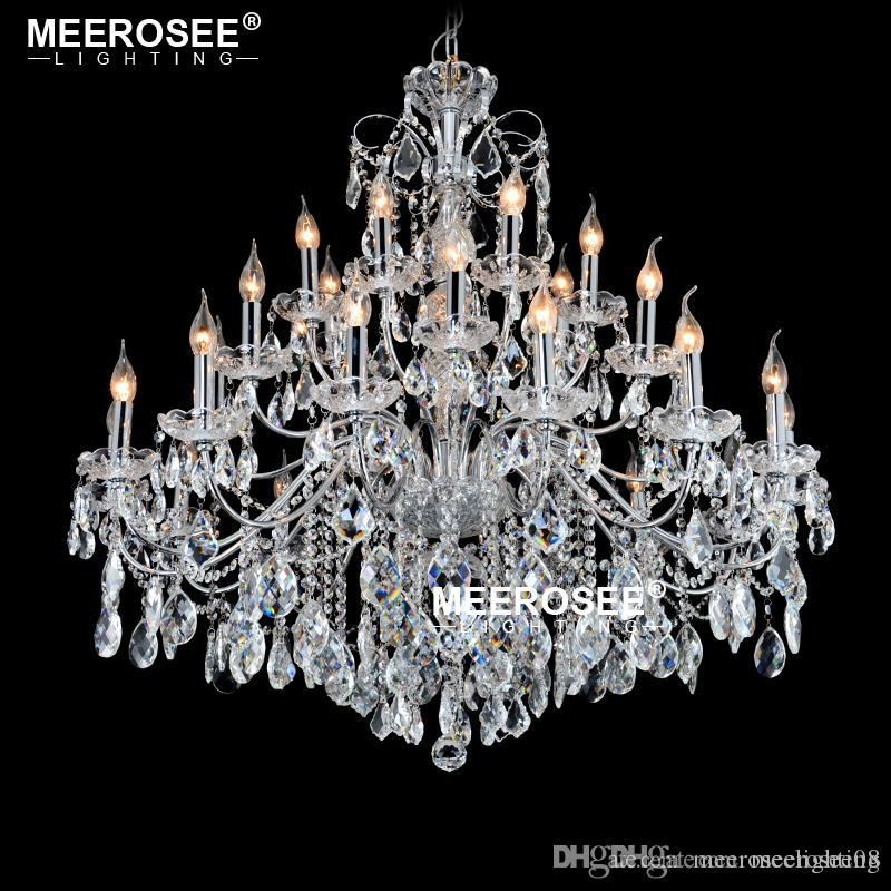 Chandelier Large Empire Crystal Lighting Lustres luminaire suspendu Chandeliers Light For Living Dining Room Luxuy Candle Bulbs