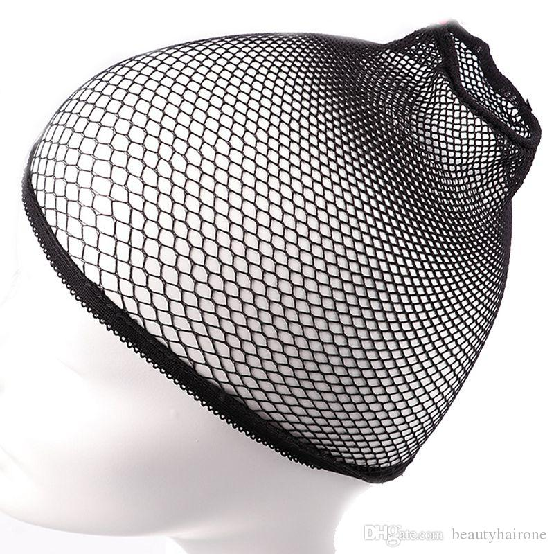 Nylon Grid Wig Caps Mesh for Wearing Wig Weaving Hair Weft High Stretchable Elastic Wig Net Black Color