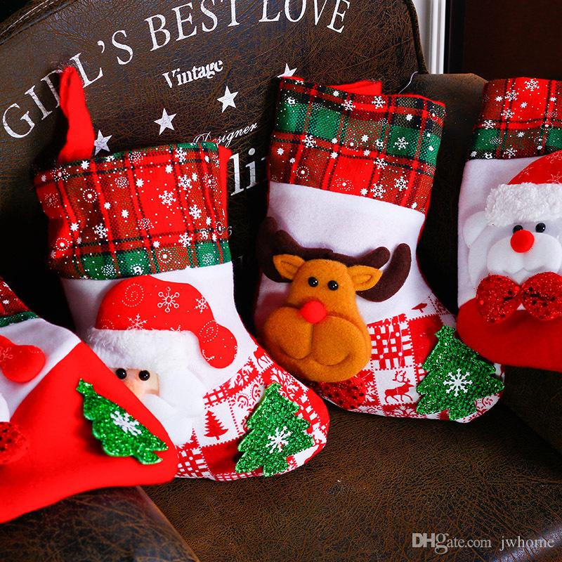 christmas gift socks apple bag snowflake socks creative candy christmas decoration supplies childrens gift bag factory