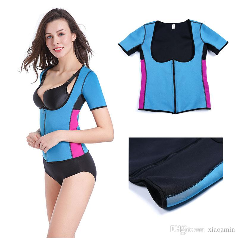 Plus Size Women Sweat Enhancing Vest Waist Corset Waist Trainer Sauna Suit Sexy Vest Hot Shaper Body