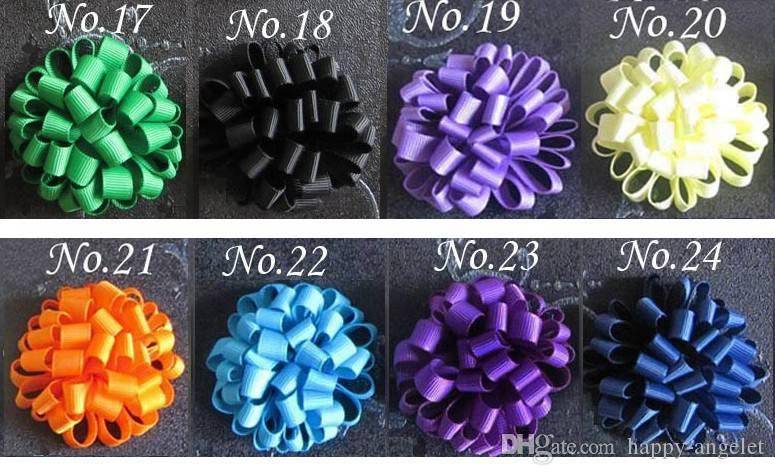 Baby loop bows clips hästsvans hållare hår tillbehör flicka band boutique xmas hår bågar klipp blomma slipsar huvudband huvudbonader hd3236