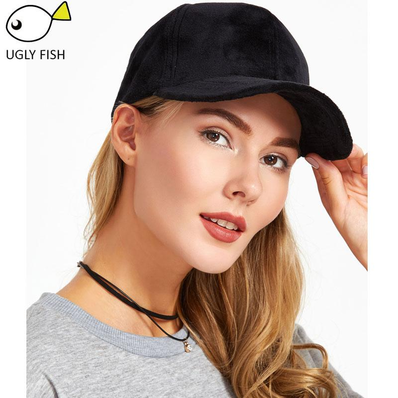 4893f7310 velvet baseball cap women snapback hip hop black dad cap velvet baseball