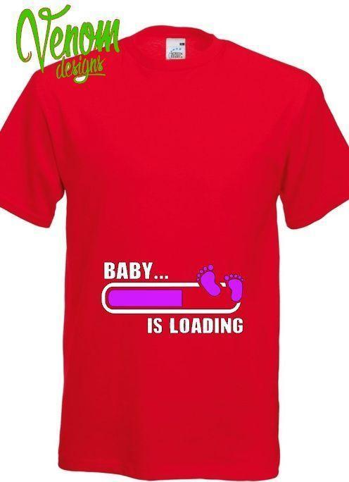 fdfd189d391a2 Baby Loading T Shirt Pregnancy Pregnant Maternity Newborn Gift Women ...