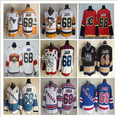 469cc3291 2019 Men Stitched 68 Jaromir Jagr Jersey Florida Panthers Ice Hockey Vintage  All Star Jerseys CCM New York Rangers From Patriots