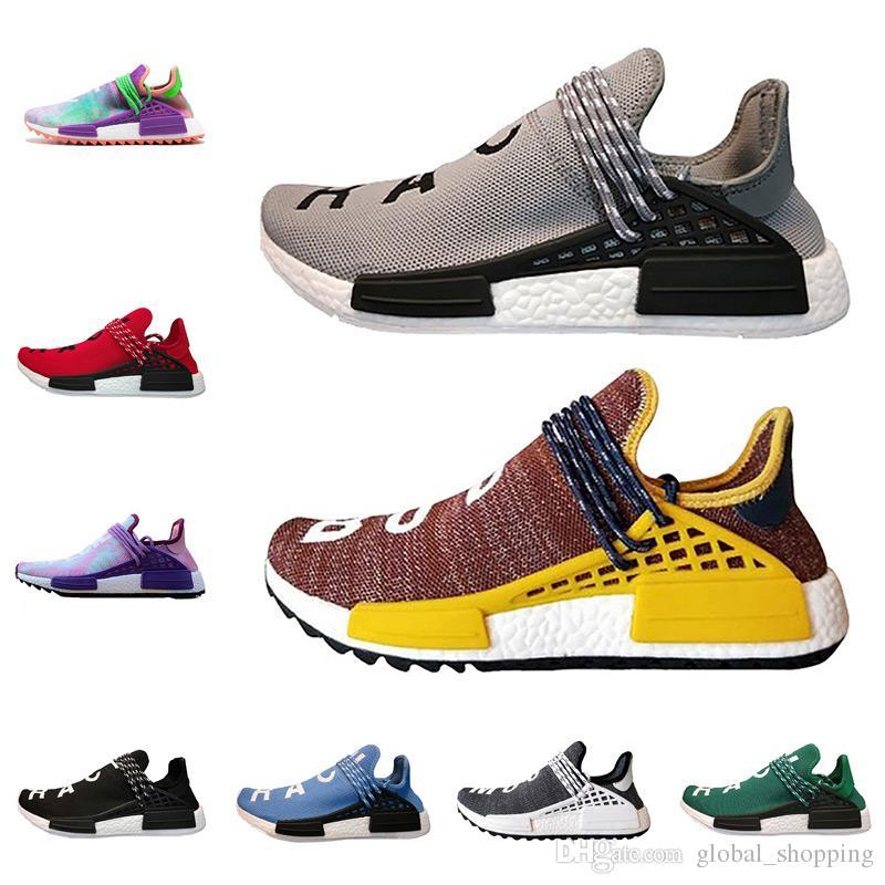 6eb502fd1ba9a Human Race Trail Running Shoes Men Women Pharrell Williams HU Runner Yellow  Nerd Core Black White Red Sports Sneaker Shoes Kids Running Shoes Black  Running ...