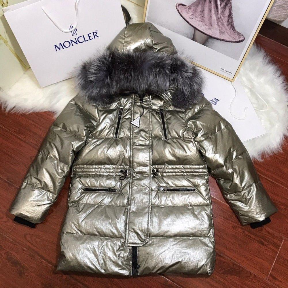 90ca07dae 2018 Kids Winter Children Long Down Jacket High-end Bronzing Fabric ...