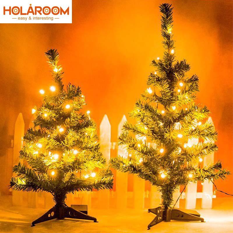 Weihnachtsbaum Kunstoff.1 Stücke Weihnachtsbaum Mit Led Licht Kunststoff Weihnachtsbaum 45 Cm 60 Cm Neujahr Weihnachtsgeschenk Ornament Künstliche Wohnkultur Liefert