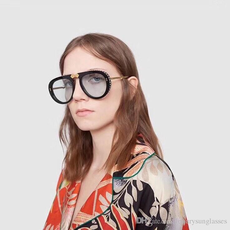 الفاخرة 0307 مصمم النظارات الشمسية للرجال والنساء طوي الصيف نمط مستطيل الإطار الكامل أعلى جودة uv حماية تأتي مع القضية