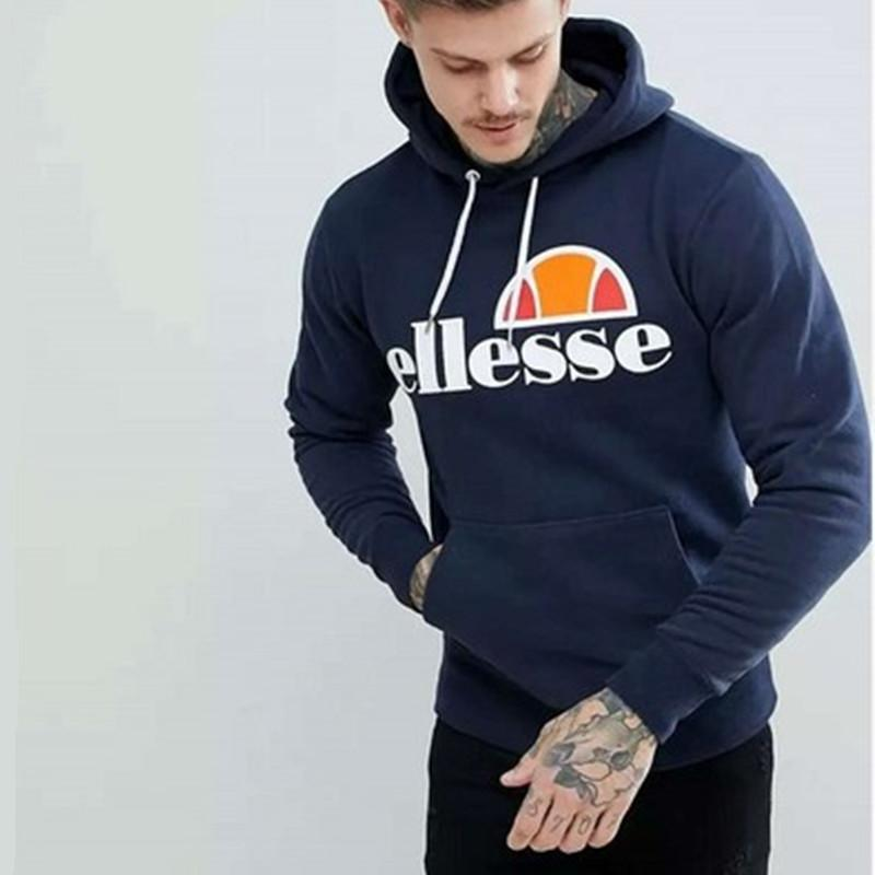 Brand Ellesse Letter Printed Pullover Men Hip Hop Hoodies Winter Autumn Long Sleeve Fashion Male Hoodie Sweatshirts S 4XL
