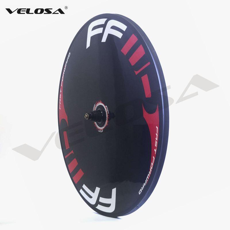 Rueda de disco de bicicleta de carbono FFWD, ruedas de disco clincher / tubular para bicicleta de pista / triatlón / rueda de disco de carbono de bicicleta de prueba