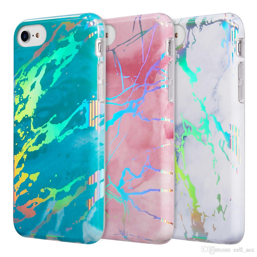huge selection of e3ae3 40185 Phone Protector Case for iPhone 6 7 8 Lightning Marble Imd Soft Tpu Case  For Iphone 8 / 7 / 6