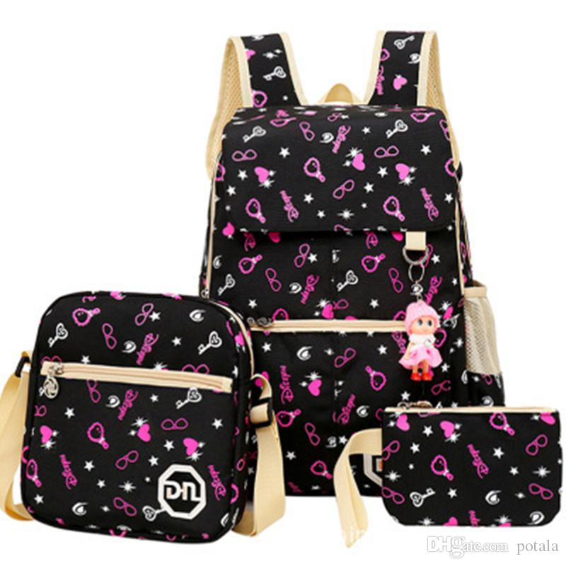 1bd1be99cb5 40 30 14CM Boy Girl School Bag Canvas 20 22 7CM Cute Big Medium Backpack  Bookbag With Florescent Mark 2 OR Ball Net Single Backpacks On Sale Camping  ...