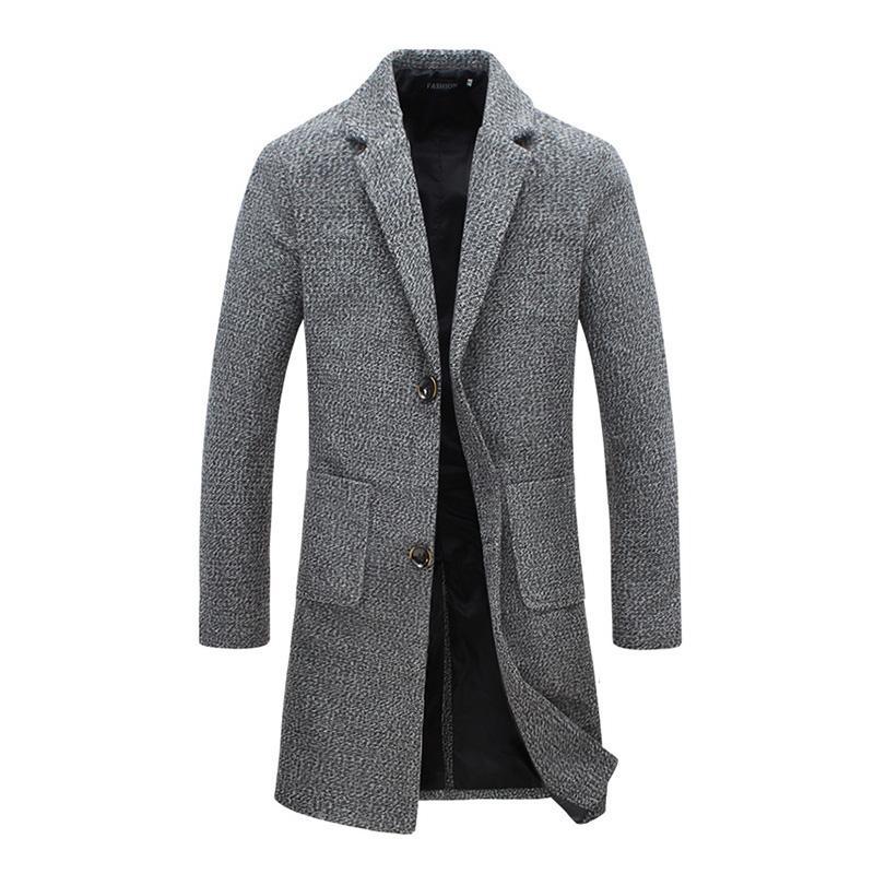 new product 83721 45d57 2018 neue Mode Designer Lange Herren Mantel Herren Trenchcoat Herbst Winter  Winddicht Schlanke Graben Männer Plus Größe Jm6