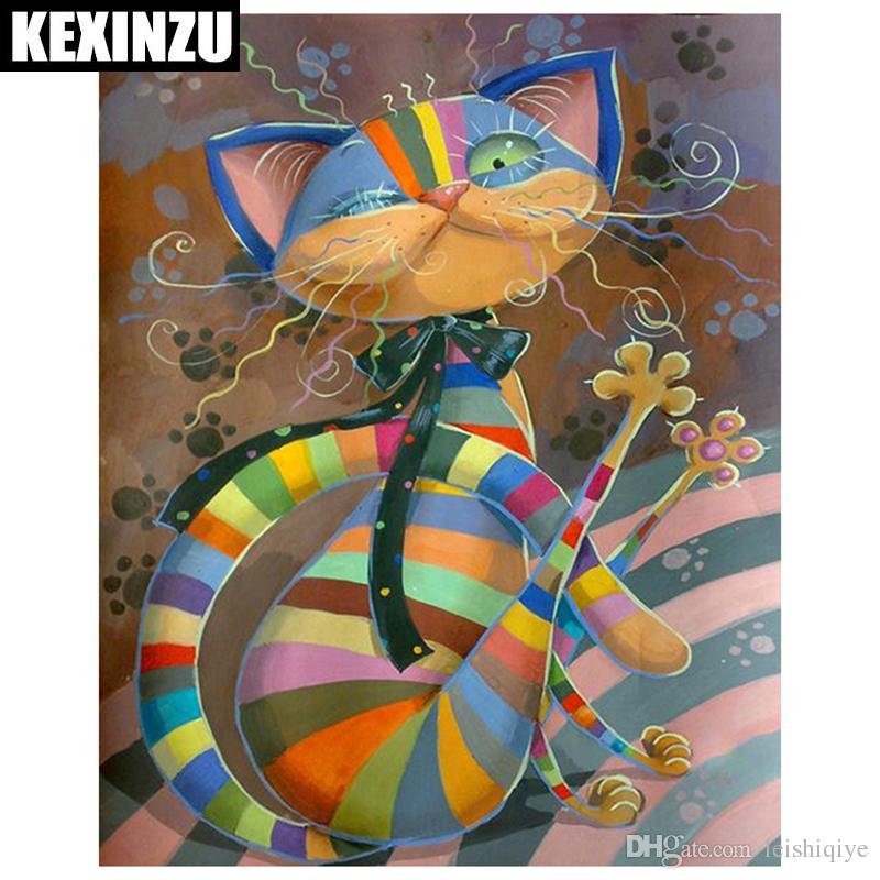 KEXINZU 5D DIY Diamond Painting Cartoon Cross Stitch Beautiful Animal Needlework Home Decorative 3D Full Square Diamond Embroidery