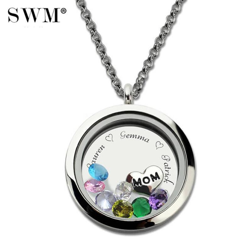 wholesale custom engraved floating charm stainless steel locket