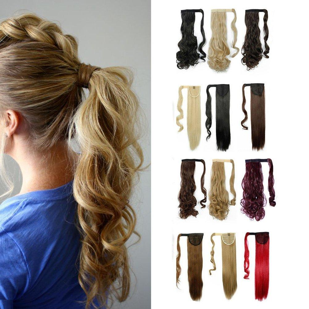 Synthetic Ponytail Clip In Hair Extensions One Piece Magic Paste