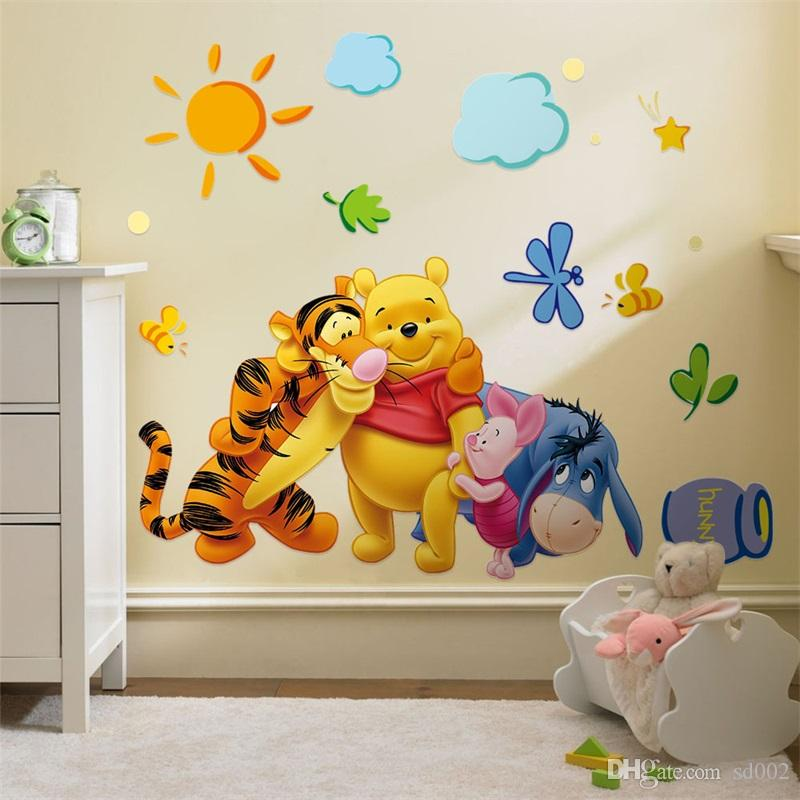 Kindergarten Tapete Kinder Kinderzimmer 3D Wandbild Kunst Poster DIY Pvc  Tiere Entfernbare Wandaufkleber Wohnkultur 2 2 kx bb.