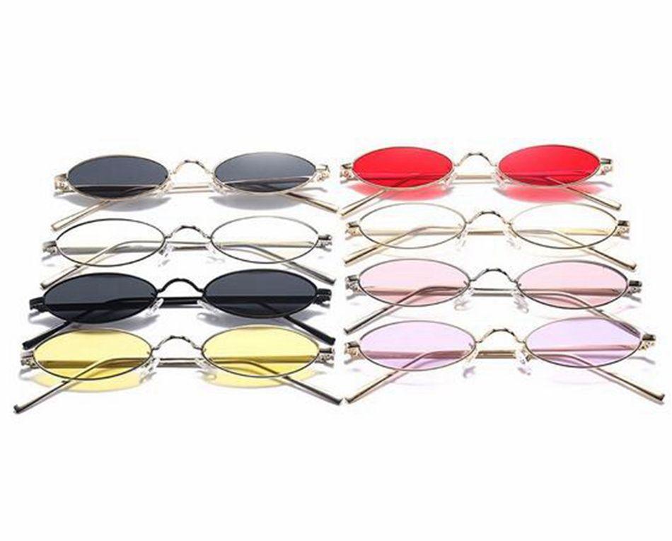 90e85aa327 Small Oval Sunglasses Fashion Mental Frame Vintage Designer Retro Round Sun  Glasses For Female Male LJJD11 Retro Sunglasses Baseball Sunglasses From ...