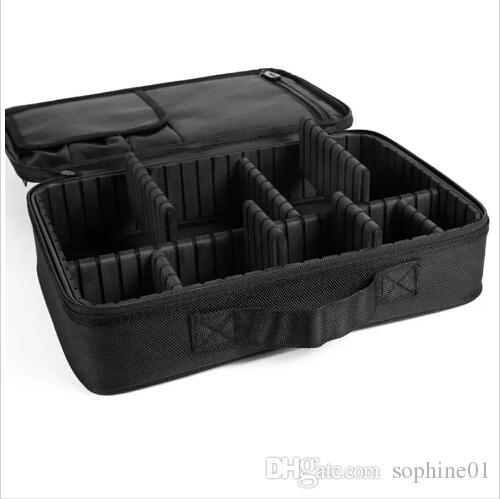 Make-up-Pinsel-Beutel-Kasten bilden Organisator-Kulturbeutel-Speicher-kosmetischen Beutel-große Nagel-Kunst-Werkzeugkästen mit tragbarem Bolso