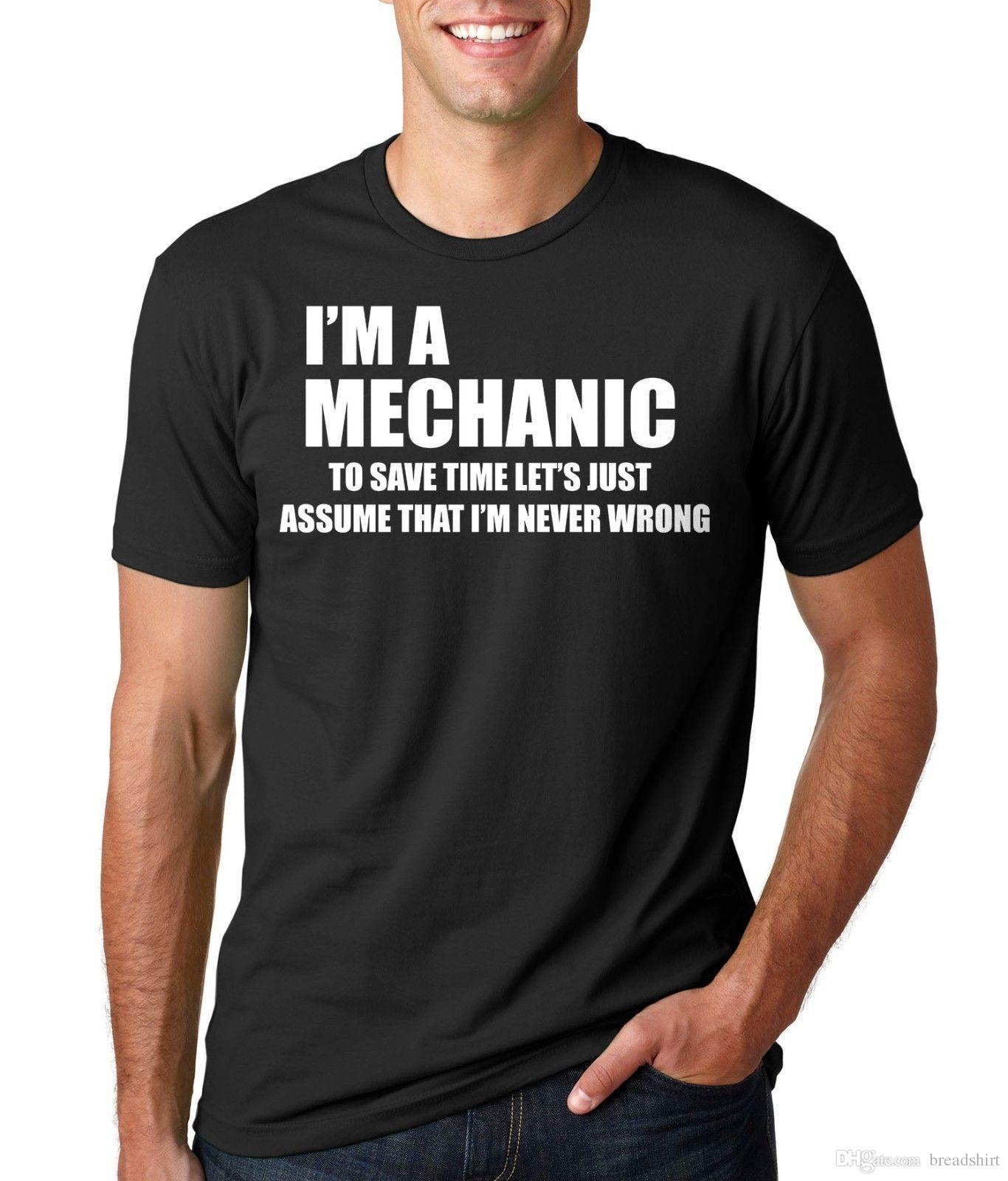 93ad20f39 Mechanic T Shirt Gift For Mechanic Funny Mechanic T Shirts Gift T Shirt  Quality T Shirts T Shirt Slogans From Breadshirt, $10.49| DHgate.Com