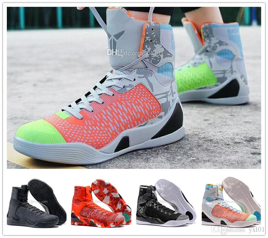 28280a4ec35c 2018 Cheap Sale Kobe 9 IX High Weaving BHM Easter Christmas Mens Basketball  Shoes For AAA+ Quality KB 9s Designer Sports Sneakers Size 40 46 Sneakers  Men ...