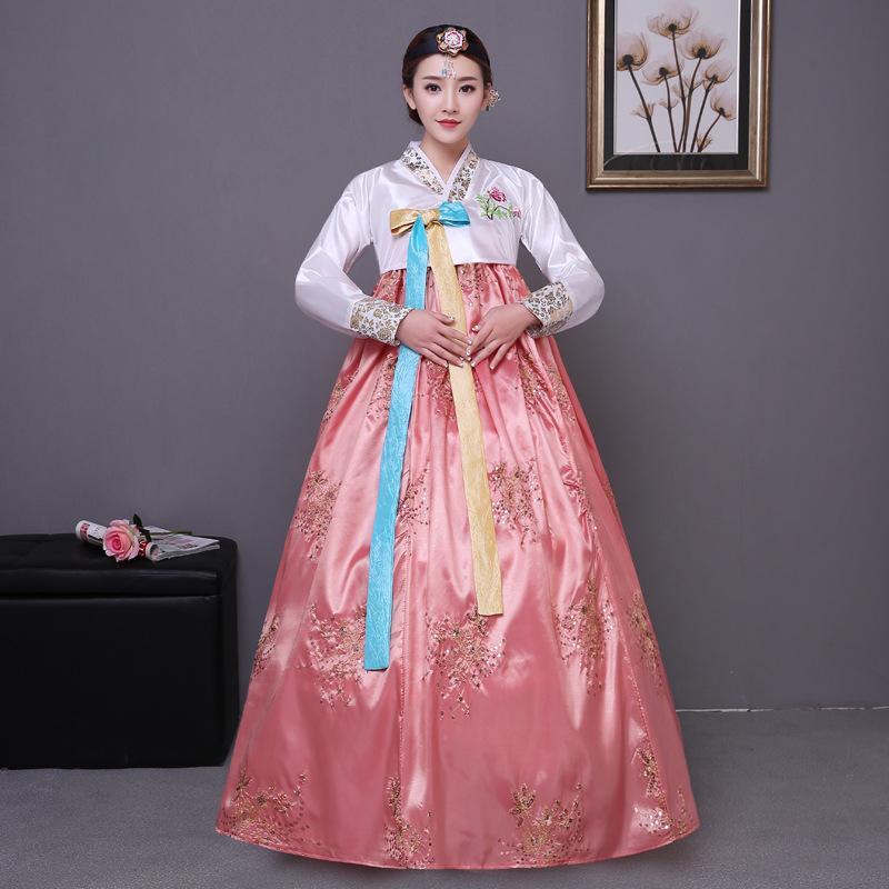Acquista Vestiti Reali Coreani Antichi Vestiti Tradizionali Delle Donne Che  Paillettes Il Vestito Di Ballo Di Prestazione Di Danza Del Vestito Dalla  Signora ... 207276c56f3