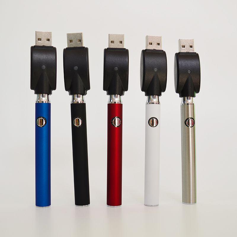 510 Konu Pil Ayarlanabilir Ön ısıtma Vape Pil USB Şarj Değişken Voltaj Vape Kalem Pil 350mAh Yağ Kartuşları için 510 Batarya