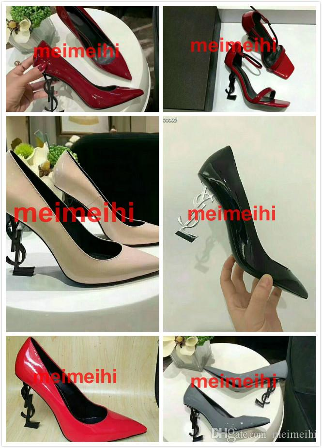 08577b790f0 2018 Custom Made Top Quality Sheepskin Inside Luxury Designer Black Patent  Leather Thrill Heel Pumps Women Leather Sandals Ladies Shoes Red Shoes From  ...