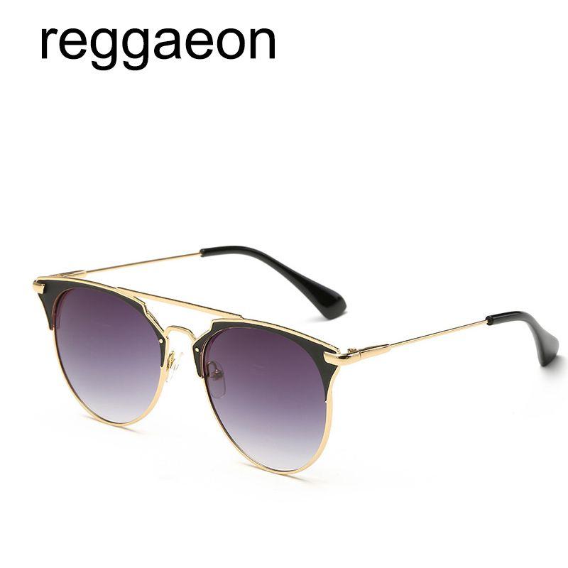 a9c1759490bf1 Compre 2018 Moda Rose Gold Mulheres Ou Homens De Luxo Gato Espelho Óculos  De Sol D Rodada Espelhado Retro Borboleta Óculos Barbie Rosa Verde Azul De  ...