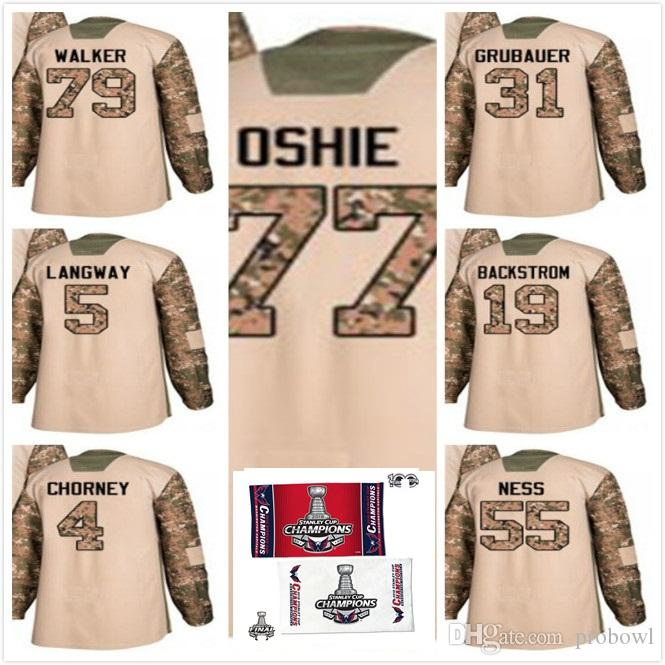 2e40aff37 2019 2018 Stanley Cup Final Champion Washington Capitals T.J. Oshie Hockey  Jerseys Veterans Ness Nathan Walker Grubauer Chorney Langway Backstrom From  ...