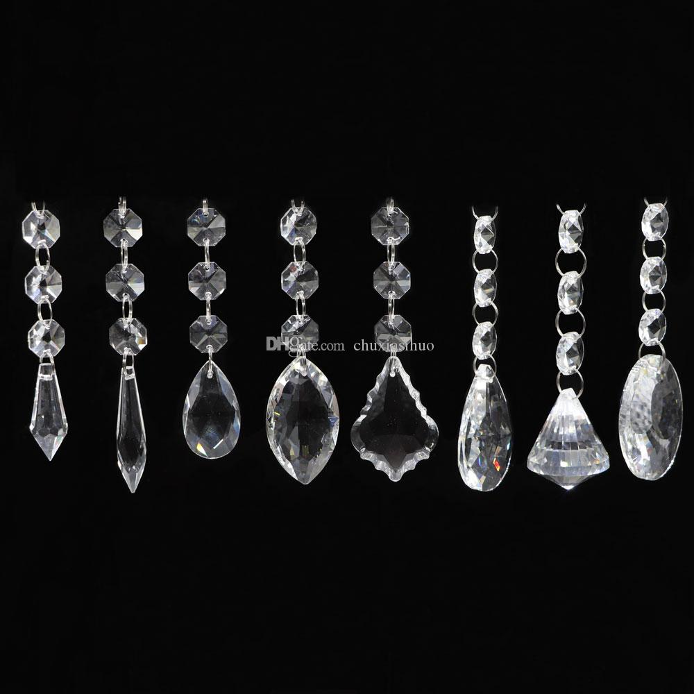 Chandelier Crystals Clear Teardrop Crystal Chandelier Pendants - Teardrop crystals chandelier parts