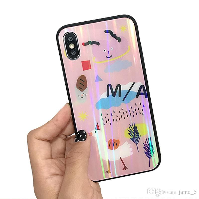 41c8bba6c0a Phone Case For IPhone 6S 6 7 7plus 8 8Plus X Smooth Dazzle Colour Kawaii  Cool Cute Cover Fashion Cartoon Shockproof TPU Cases Cheap Cell Phone Cases  ...